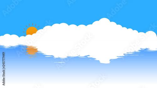 青空と雲と太陽と海 - 243777449