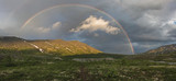 Fototapeta Tęcza - Rainbow in the mountains Khibiny © Nadejda Schour