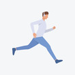 Young running man. Guy, sportsmen, runner. Can be used for topics like fitness, active lifestyle, health