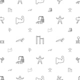 strong icons pattern seamless white background - 243799200
