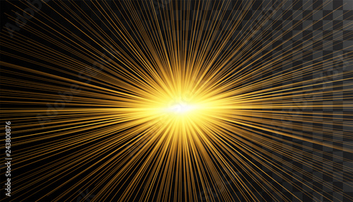 Transparent glow light effect.Gold glitter powder splash background. Golden dust. Magic mist glowing.