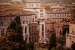 Quadro red sunset Rome