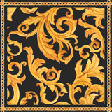 Golden baroque rich luxury vector pattern - 243805271