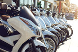 Rental sale of motorcycle scooters.