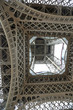 Leinwandbild Motiv Eiffel tower view from below in the city of Paris