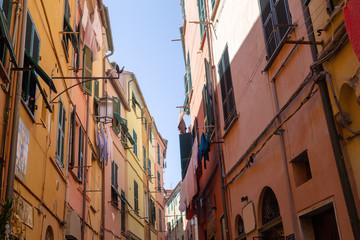 Street lamp , Portovenere, Italy.