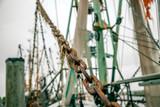 rigging of a sailing ship - 243840076