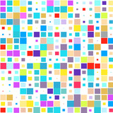 The mosaic of a bright colorful squares on a white background.  - 243852463