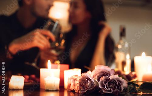 Leinwandbild Motiv Beautiful passionate couple