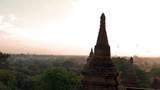 Sunrise old Bagan, Sunet Pagan Pagoda Temple of Bagan Myanamar - 243867403