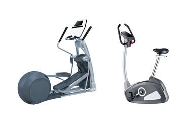 gym bikes isolated © photobalance