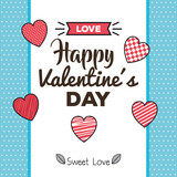 valentines day card with hearts - 243868277