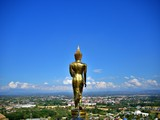 After Noon landscape of the Buddha statue with bluesky at Wat Pra That Kao Noi, Nan, Thailand - 243869040