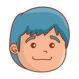 cute little baby head character - 243883639