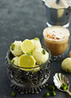 Handmade candies. Amaretto truffle with pistachios. Home sweetness. Selective focus.