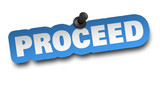 proceed concept 3d illustration isolated - 243891651