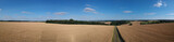 panorama rural summer landscape with a road - 243909014
