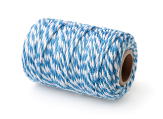 Blue striped cotton bakers twine spool © Coprid