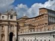 Quadro Museos Vaticanos, plaza y Basílica de San Pedro, Roma, Italia.