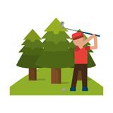 Golf sport game