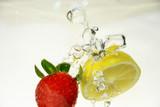 Früchte, Wassertropfen, Hintergrund