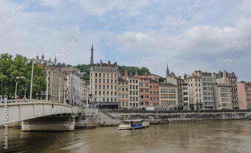 Poster View of Vieux Lyon from Pont de la Feuillée.