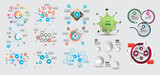 Big set of infographic vector elements for business illustration - 243950630