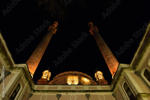 Ortakoy Mosque view from bottom. Istanbul, Turkey