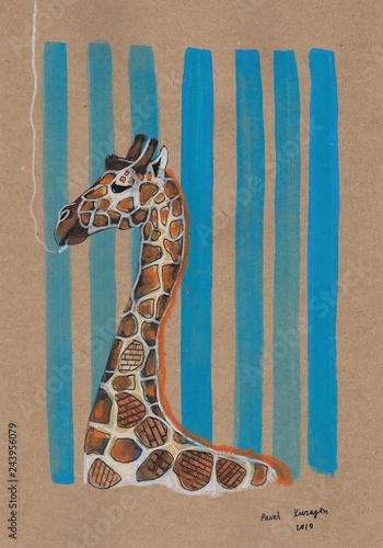 Poster Smoking giraffe