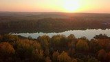Aerial landscape of a lake - 243958464