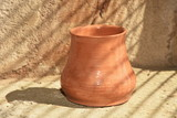 Artistic handmade ceramic clay brown terracotta pots - 243966243