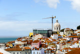 Fototapeta Fototapety miasto - houses in town of lisbon portugal, in Lisbon Capital City of Portugal © underworld