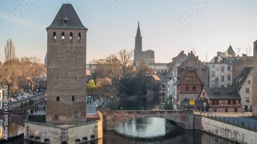 Fridge magnet Ponts Couverts in STrasbourg France