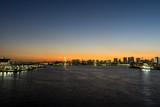 豊洲大橋から望む日没風景