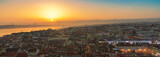 Fototapeta Fototapety pomosty - Panorama of Lisbon by Golden Hour © 4th Life Photography