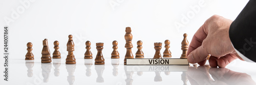 Poster Wide view image of business vision