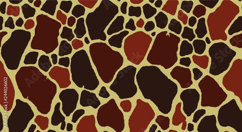 obraz PCV Seamless Giraffe Fur Pattern