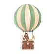 Watercolor air baloon vector illustration