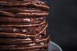 Sweet chocolate pancakes
