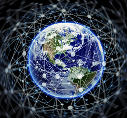 Connected World - Elements of this image furnished by NASA