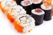 Isolated Sushi on white background
