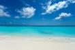 Leinwanddruck Bild - tropical Maldives island with white sandy beach and sea