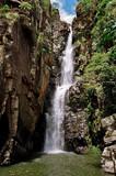 Brazilian waterfalls in Minas Gerais river cascades