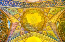"""Постер, картина, фотообои """"The medieval frescoes in Chehel Sotoun Palace, Isfahan, Iran"""""""