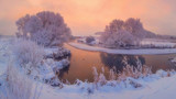 Fototapeta Natura - Winter morning. Scenic winter landscape at sunrise © dzmitrock87