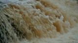 Waterfall huge stream of falling white water - 244111062