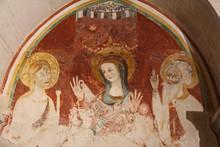 """Постер, картина, фотообои """"Maria incoronata tra Sant"""