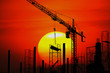 Silhouette Industry of construction site