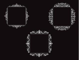 Vintage vector swirl frame set © bastinda18