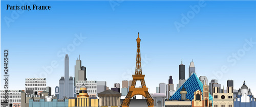 Vector city paris france - 244155423